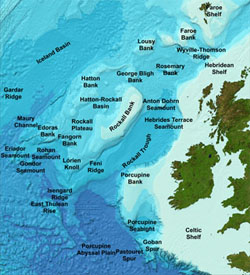 GEBCO's gazetteer of undersea feature names displayed on the GEBCO grid