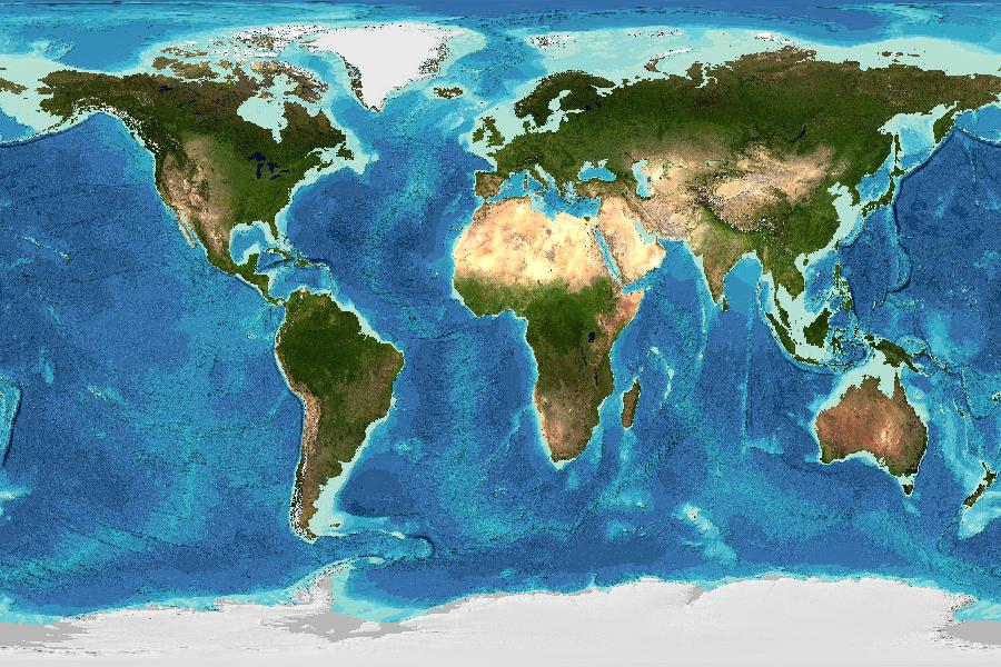 360 Degree World Map.Gebco Web Map Service Wms