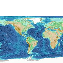 Gridded bathymetry data (General Bathymetric Chart of the Oceans)