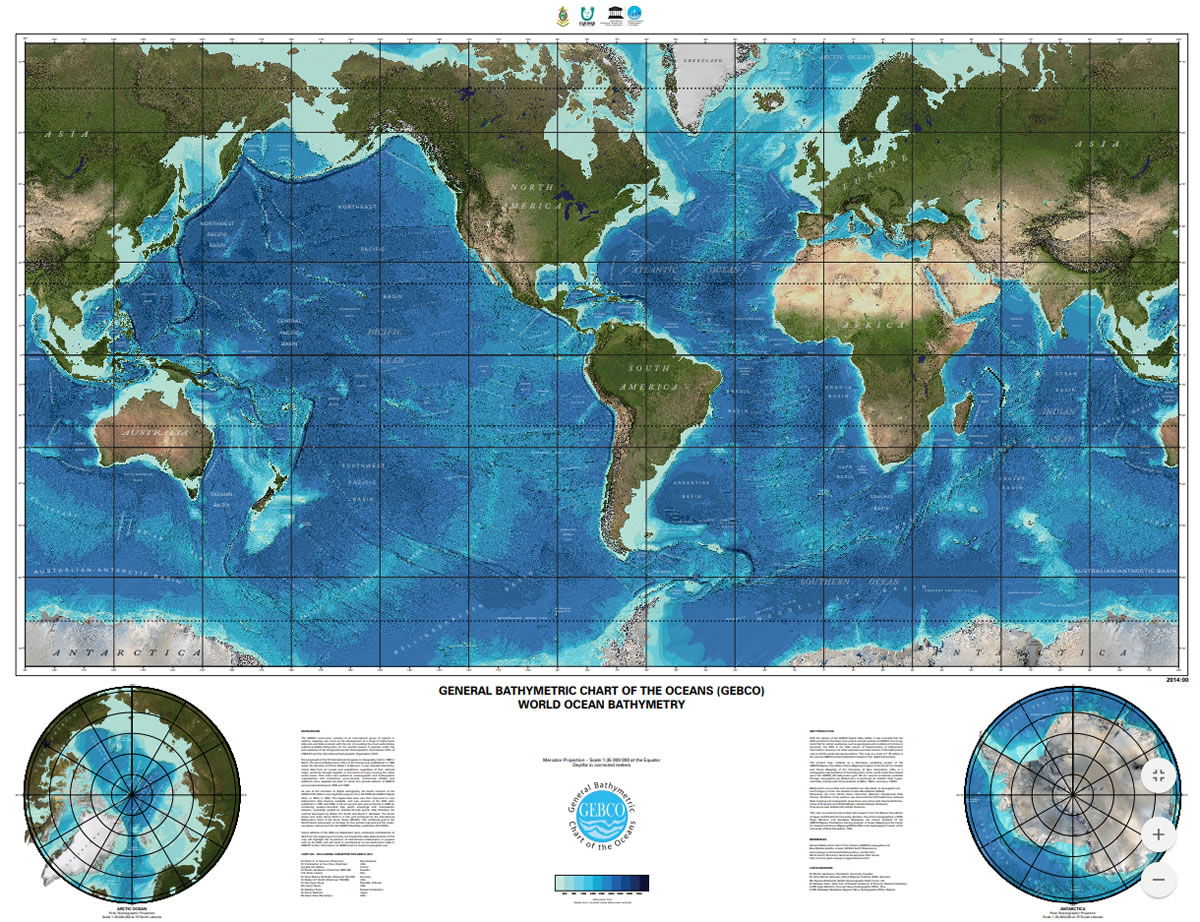 GEBCO Printable Maps