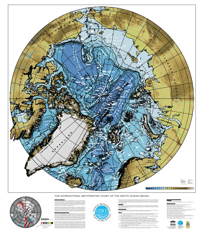 Printable version of the International Bathymetric Chart of the Arctic Ocean (IBCAO)