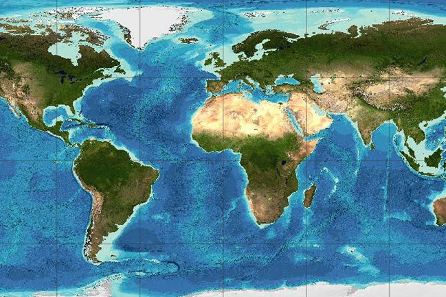 GEBCO global bathymetric grid
