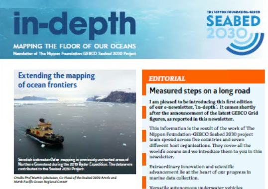 Launch of Seabed 2030's e-newsletter