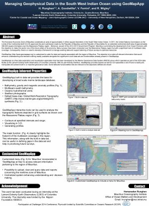 poster: Managing Geophysical Data in the South West Indian Ocean using GeoMapApp
