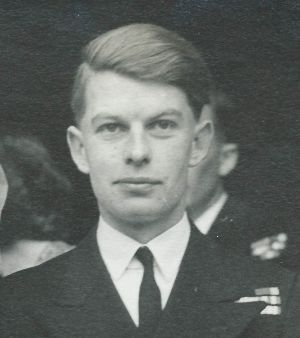 Desmond Scott during his service in the British Royal Navy