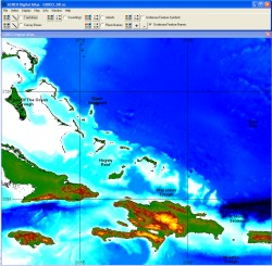 Displaying bathymetry data through the GDA Software Interface