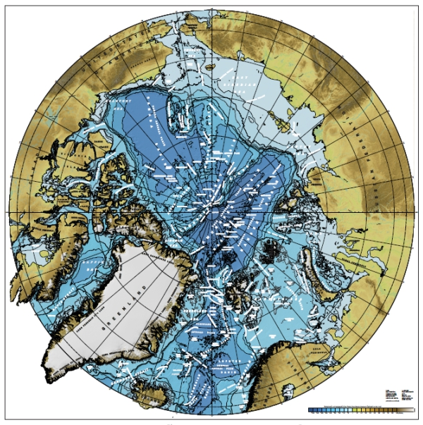 Gridded bathymetry data for the Arctic Ocean area from version 3.0 of the IBCAO