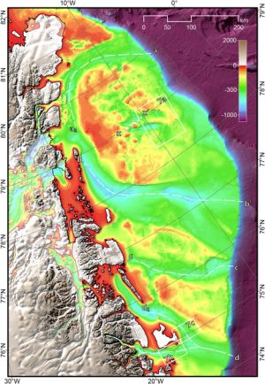 A new bathymetry of the Northeast Greenland continental shelf