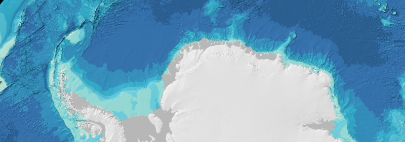 Imagery for the Southern Ocean region from GEBCO's WMS