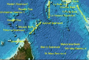 Displaying names from the GEBCO Gazetteer of Undersea Features