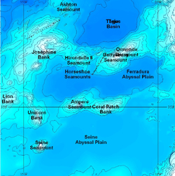 Displaying data from the GEBCO Gazetteer of Geographic Names of Undersea Features